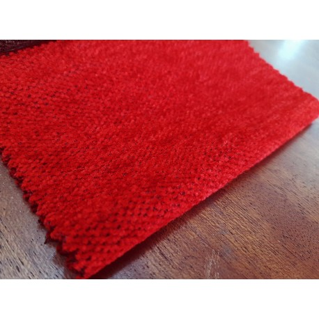 Chenilla Terciopelo doble cara N.14 Rojo Intenso