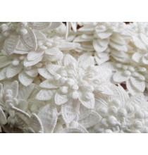 Tira Guipur Flor de Dahlia