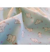 Piqué  Elefantitos Aguamarina